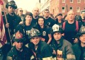 Membros do Newark Fire Department  participam na Tunnel to Towers Run