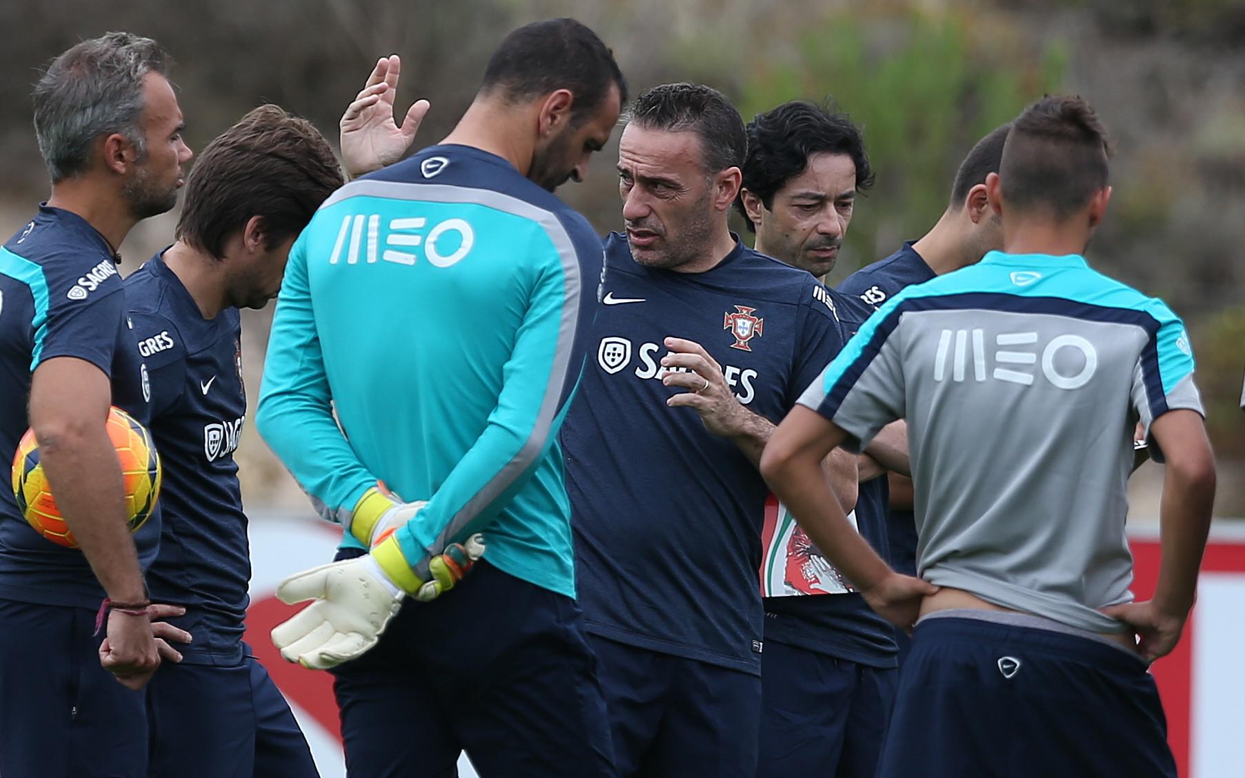 Treino da selecção portuguesa de futebol