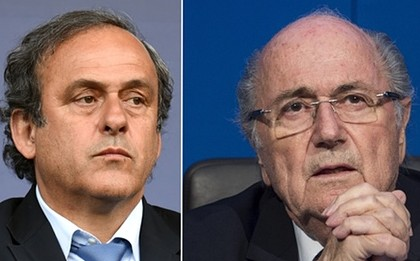 Michel Platini e Joseph Blatter