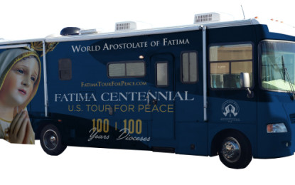 Fátima Centennial-US Tour for Peace Honors the  apparition of Mary to the 3 children in Portugal