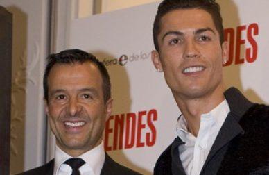 Cristiano Ronaldo e Jorge Mendes