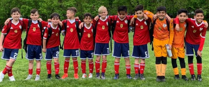 Os United (sub-11) do Ironbound SC